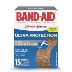 Curativo Band-Aid Ultra Protection com 15 Unidades